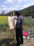 叶仲桥生活-2月28日带领市美协到云安县富林镇万亩油菜花乡村写生,并接受【图2】