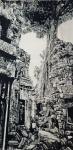 马培童日志-带你走进柬埔寨,我画吴哥窟的大榕树,生命力极强,都生长在石窟【图2】