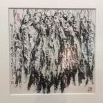 邓澍生活-应邀参加张老师的画展,他的作品极具个性令人振憾。【图3】