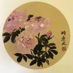 石广生日志-《醉东风》 阳台的鲜花盛放,忍不住对着花涂上两笔。须眉汉子【图1】