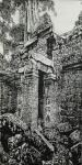 马培童日志-我画吴哥石窟,主要运用了 我们徐州汉画像石刻的刀法,凿,錾,【图4】