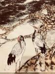 叶仲桥日志-天道酬勤,三十米花鸟画长卷最后一组松鹤到月底就可以完成! 【图3】