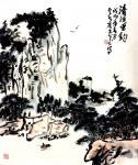 龚光万日志-国画山水《清溪垂钓 》,新作,【图1】