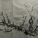 范锻日志-国画《白梅》 墙角数枝梅,凌寒独自开,遥知不是雪,为有暗香【图4】