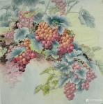 韩梅日志-葡萄熟了。四尺斗方工笔葡萄【图1】
