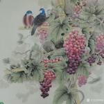 韩梅日志-葡萄熟了。四尺斗方工笔葡萄【图2】
