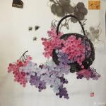 杨凌日志-最近完成四尺斗方的彩墨葡萄。颗颗晶莹剔透让人垂涎欲滴。【图2】
