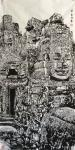 马培童日志-三,创作高棉的微笑,用焦墨画石窟佛像,喜,怒,哀,乐,是以点【图2】