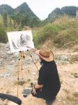 叶仲桥生活-随云浮画院到罗定市古驿道写生创作采风活动。感谢佛山服装公司贺【图1】