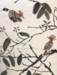 石广生日志-国画《木棉花》 每天晨练,看惯了花开花落。今早抬头一看,惊【图1】