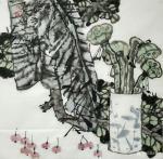 魏杰日志-国画《清茶》四幅,一杯茶品平凡人生,平常心看大千世界。欢迎品【图2】