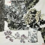 魏杰日志-国画《清茶》四幅,一杯茶品平凡人生,平常心看大千世界。欢迎品【图3】