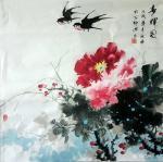 罗欣科日志-国画《春晖图》《喜韵图》,罗欣科作品【图1】
