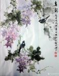 罗欣科日志-国画《春晖图》《喜韵图》,罗欣科作品【图2】