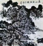 半僧建中日志-春山新雨後:國畫,紙本,96x90【图1】