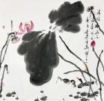 曹金华日志-曹金华国画,《清风拂面》,69×69cm【图1】