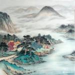 墨丹日志-四尺斗方山水,墨丹国画作品【图1】