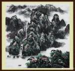 叶向阳日志-翰墨颂中华:国画山水画《家住青山绿水畔》《奇峰耸翠春云飘》《【图1】
