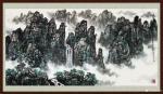 叶向阳日志-翰墨颂中华:国画山水画《家住青山绿水畔》《奇峰耸翠春云飘》《【图3】