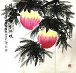 叶向阳日志-翰墨颂中华:《蟠桃祝福事业兴旺》。恭祝全天下母亲健康长寿幸福【图1】