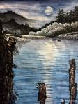 冯建德日志-天气太热啦,画一幅夜景和一副幅雪景找找凉快的感觉!【图3】