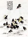 龚光万日志-国画花鸟画,回望曾经的作品,小《鸡》系列,7幅,供大家欣赏【图3】