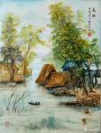 陈刚日志-国画山水画新作两幅《秋到农家院》,《水乡》,尺寸60×90c【图2】
