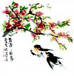 龚光万日志-回望曾经的作品国画动物画小品《燕子》,《游鱼》,《福狗》,《【图2】