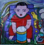 陈鸣婵日志-最近创意作品与你分享,有点穿越时空:《悟道》《童年》《古城》【图5】