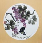 杨凌生活-一套写意葡萄完成,38:38cm,喜欢可以定制哦!【图2】