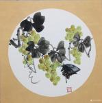 杨凌生活-一套写意葡萄完成,38:38cm,喜欢可以定制哦!【图3】