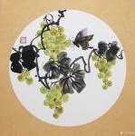 杨凌生活-一套写意葡萄完成,38:38cm,喜欢可以定制哦!【图4】