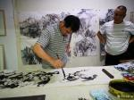 阎敏日志-酒后在朋友的画室里笔墨放纵了一下,如奔马自由驰骋,快意天地,【图2】