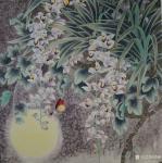 韩梅日志-我爱幽兰异众芳,不将颜色媚春阳。四尺斗方工笔画兰花《幽谷兰香【图1】