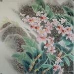 韩梅日志-我爱幽兰异众芳,不将颜色媚春阳。四尺斗方工笔画兰花《幽谷兰香【图4】