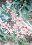 韩梅日志-我爱幽兰异众芳,不将颜色媚春阳。四尺斗方工笔画兰花《幽谷兰香【图5】