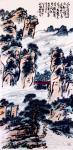 龚光万日志-国画山水画《  人近清溪临古松,小桥吹过野田风。春花不厌迟来【图1】