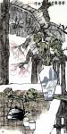 魏杰日志-国画人物画《东坡赏竹图》,《雨打芭蕉》,《清晨的霞光》,《茶【图4】