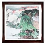 徐建清日志-国画花鸟画《群英图》1幅,山水画斗方《松山云泉》两幅。都说装【图4】
