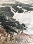 叶仲桥日志-这张《大地生辉》的大画,是由一位本土企业家订制的大画(装裱后【图1】