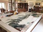 叶仲桥日志-这张《大地生辉》的大画,是由一位本土企业家订制的大画(装裱后【图4】