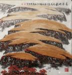 叶向阳日志-翰墨颂中华:国画山水画作品《高原秋韵》、《春山滴翠银瀑鸣》、【图3】