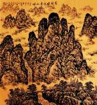 叶向阳日志-翰墨颂中华:《家住绿水青山畔》。仿古焦墨山水画。恭祝亲朋好友【图1】