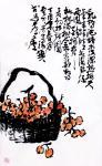 龚光万日志-国画写意花鸟画《东园载酒西园醉,摘尽枇杷满树金》。 尺寸13【图1】