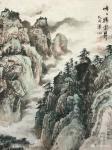 祝汉山日志-国画山水画《峰峰祥云升,壑壑流水声。千里不觉远,万也可征。》【图2】