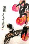 甘庆琼日志-缶翁功无敌,白石意难求,近世二峰矣! 不断向大师学习。【图1】