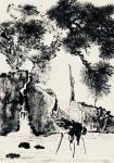 叶仲桥日志-三天画了这张作品,国画《松鹤长青》,也算是我的大收获了。配绘【图1】