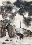 叶仲桥日志-三天画了这张作品,国画《松鹤长青》,也算是我的大收获了。配绘【图2】