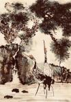 叶仲桥日志-三天画了这张作品,国画《松鹤长青》,也算是我的大收获了。配绘【图3】
