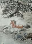 郝鹏云日志-国画动物画~《苍野闲骏》,六尺整张。纸质,温州皮纸熟宣。前几【图4】